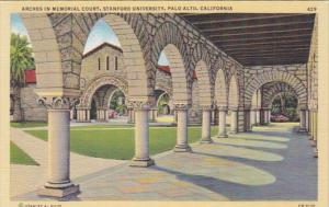 California Palo Alto Arches In Memorial Court Stanford University