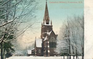 Cathedral at Fredericton NB, New Brunswick, Canada - Winter View - pm 1907 - DB