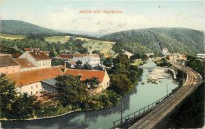 Czech R. 1917 Billowitz an der Zwitta Bahntrasse railroad