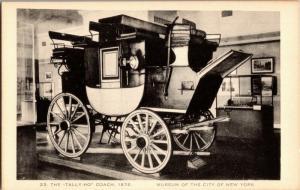 Tally-Ho Coach at the Museum of City of New York NY Vintage Postcard O14