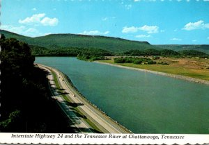 Tennessee Chattanooga Interstate Highway 24 and The Tennessee River