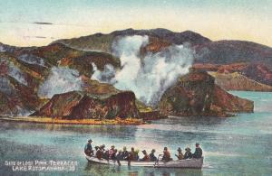 Guided Boat Trip On Lake Rotomahana New Zealand Old Postcard