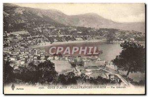 Old Postcard Villefranche Sur Mer Vue Generale Boat