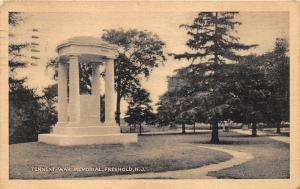 Freehold New Jersey~Tennent War Memorial~Plaque Surrounded by Columns~WWII~1943