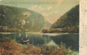 Through the Gap from Jersey Shore Delaware Water Gap PA 1906