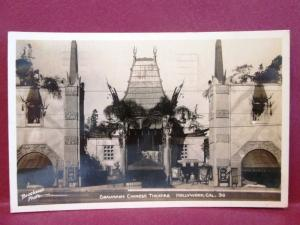 Postcard CA Hollywood Graumans Chinese Theatre RPPC Real Photo by Brookwell