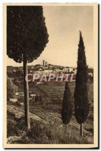Old Postcard Saint Paul Vue Generale A Travers Les Cypres
