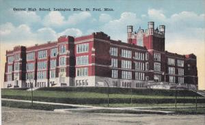 ST. PAUL, Minnesota, 1900-1910's; Central High School, Lexington Blvd.