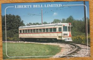 Liberty Bell Limited Postcard Lehigh Valley Transit Seashore Trolley Museum No.