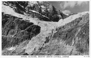Canada Jasper Angel Galcier Mount Edith Cavell Postcard