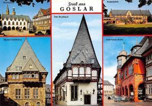 Gruss aus Goslar, Kaiserpfalz Hotel Kaiser Worth Marktplatz Baecker Gildehaus