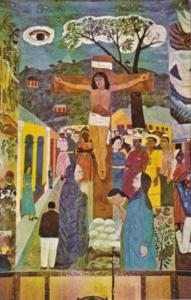 Haiti Port-au-Prince Crucifixion Mural Holy Trinity Cathedral Episcopal