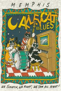 MEMPHIS, Tennessee, 1992 ; Alley Cat Blues, Cats playing instruments
