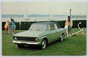 Studebaker~Daytona Sport Sedan~Watching Sailboats Thru Coin-Op Binoculars~Anchor