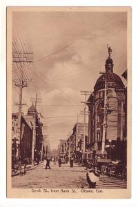 Sparks Street from Bank Street, Ottawa, Ontario, Sepia, International Station...