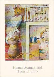 Hunca Munca and Tom Thumb, Mice carrying pillow upstairs, PU-1991