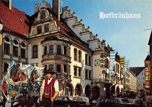 Munchen Munich Hofbrauhaus Street Vintage Cars Postcard