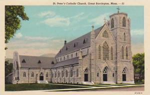 Massachusetts Great Barrington Saint Peters Catholic Church