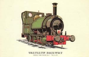 Taltyllyn Railway Saddle Tank Engine 1 Train Postcard