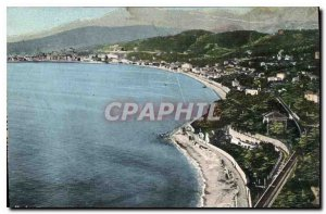 Old Postcard Menton General View from the border
