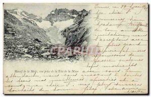 Old Postcard Massif Meije view from the Tete Maye