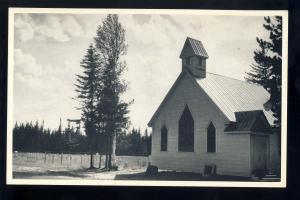 Eustis, Maine/ME Postcard, New Flagstaff Church