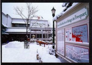 ME LL Bean L L Dept Store FREEPORT MAINE Postcard