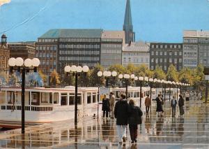 Hansestadt Hamburg Alsteranleger Jungfernstieg River Boats Promenade