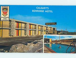 Unused Pre-1980 BOWRIDGE MOTEL Calgary Alberta AB o0501