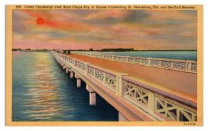 Corey Causeway over Boca Ciega Bay, FL at Sunset Postcard *5N17