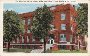 Carey OH~Nuns w/Habits @ Steps of the Pilgrim's House~Sisters of St Francis 1922
