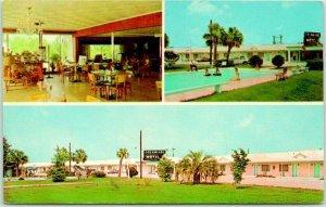 SYLVANIA, Georgia Postcard DREAMLAND MOTEL / Restaurant & Pool Views c1960s