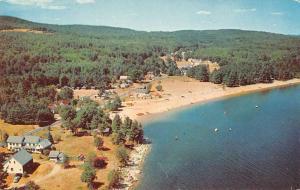 Sebago Lake Maine Nason's Beach Air View Vintage Postcard JA4741431