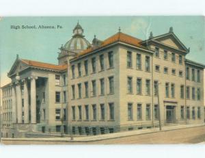 Divided-Back HIGH SCHOOL SCENE Altoona Pennsylvania PA E2489