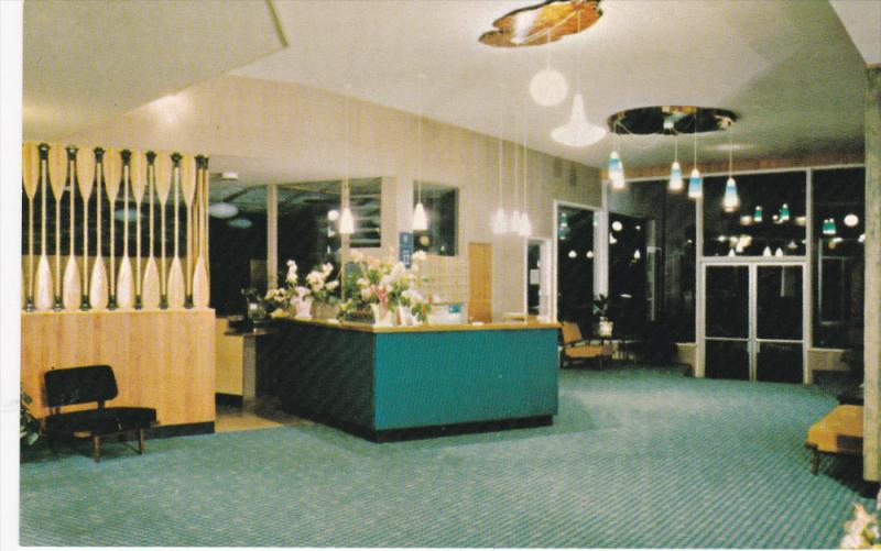 NANAIMO, British Columbia, Canada, 1940-1960´s; The Shoreline Hotel, Lobby
