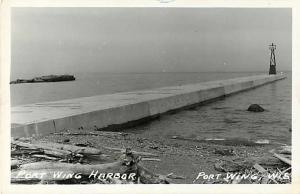 RPPC View at Port Wing Harbor Port Wing Wisconsin WI