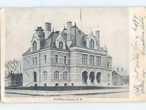 Pre-1907 POST OFFICE Concord New Hampshire NH A3566