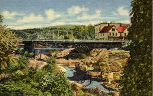 NH - Lisbon. Gorge of the Ammonoosuc river