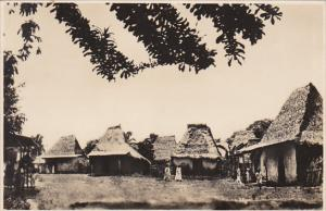 Panama Native Huts In Canal Zone Real Photo
