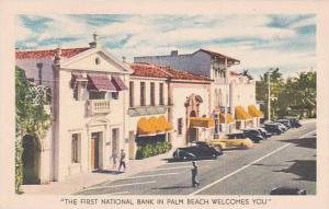 Florida Palm Beach The First National Bank In Palm Beach Welcomes You