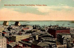 Maine Portland BIrds Eye View From Fidelity Trust Building