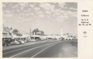 RP: INDIO , California , 1930-40s ; Street view ; FRASHERS F-6269