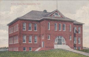 COLBY, Kansas, 1900-1910s; Thomas County High School