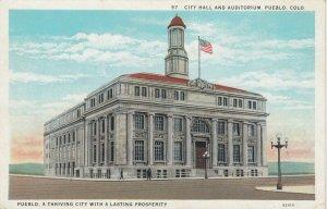 PUEBLO , Colorado , 1910s ; City Hall