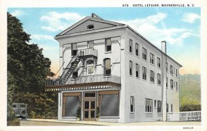HOTEL LEFAINE Waynesville, North Carolina ca 1920s Vintage Postcard