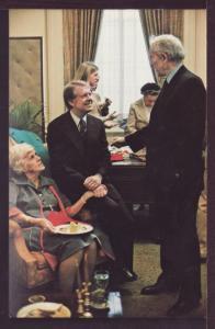 Jimmy Carter and Miz Lillian Post Card 3408
