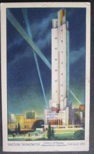 Havoline Thermometer Century Of Progress Expo Chicago IL 1933