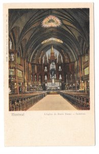 Canada Montreal L'eglise Notre Dame Notre Dame Church Interior Private Post Card