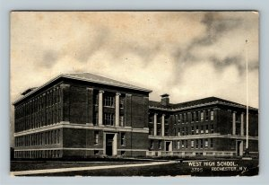 Rochester NY, West High School Building, Vintage New York c1908 Postcard