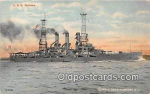 USS Kansas  Postcards Post Cards Old Vintage Antique  USS Kansas